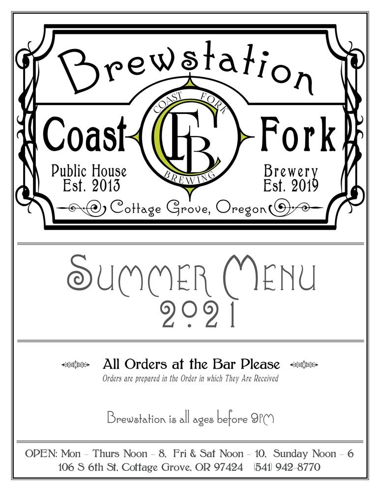Brewstation Food Menu Summer 2021 - Page 1