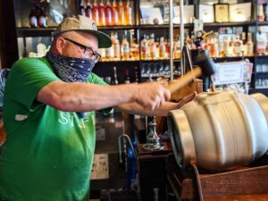 Stephen with cask