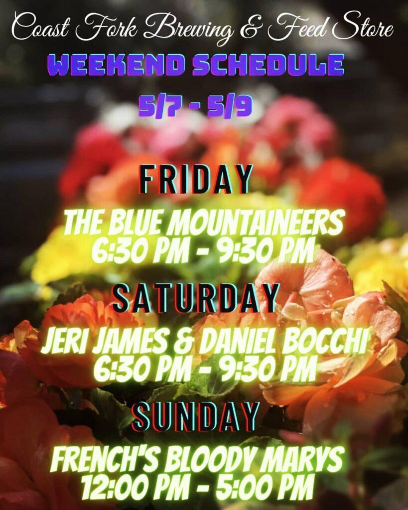 Weekend Schedule 2021-05-07