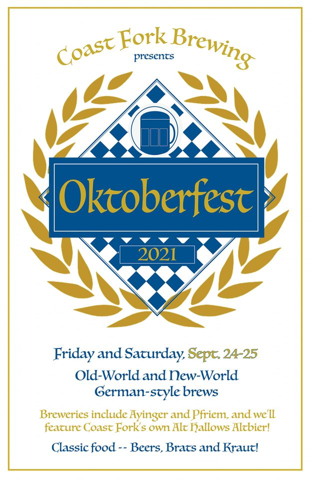 Coast Fork Brewing Oktoberfest 2021